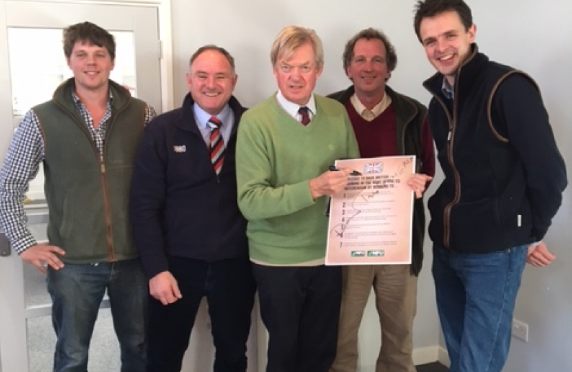 David Tredinnick MP supporting local farmers.