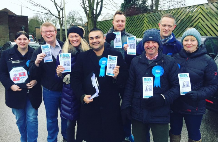 Peter Bedford & team members in Markfield