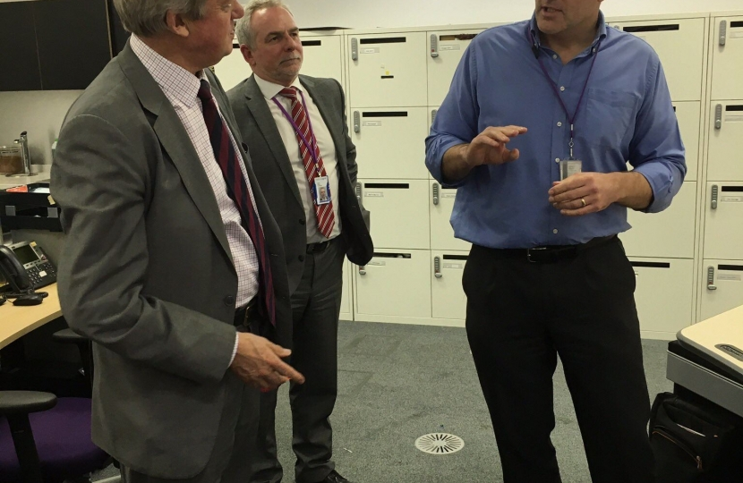 David Tredinnick MP visiting the National Grid