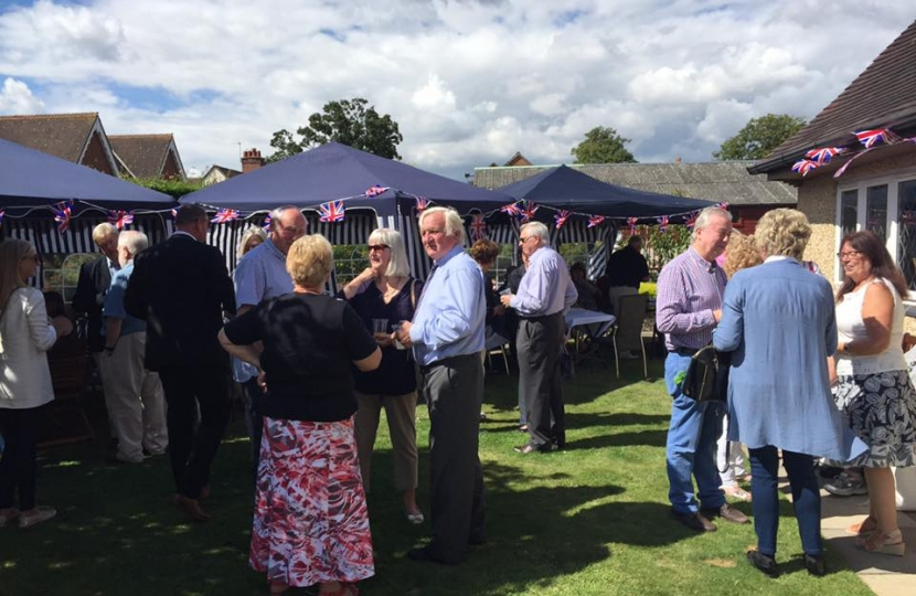 Members gather at the Chairman's BBQ