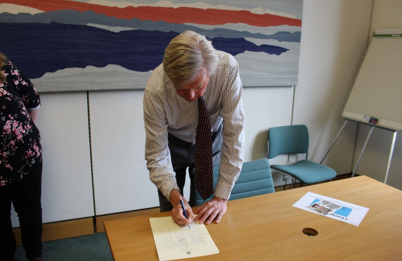 Signing the Changing Places Petition