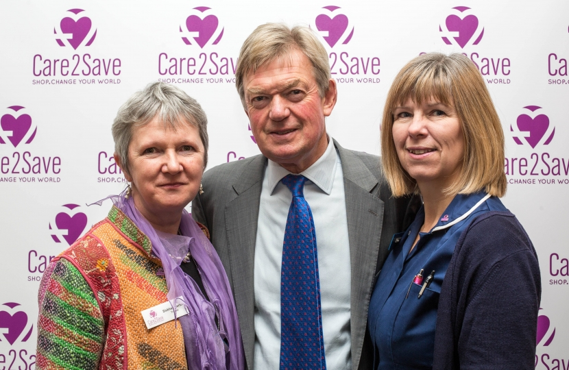 David Tredinnick with Siobhan Horton (left) and Wendy Field who work in hospices