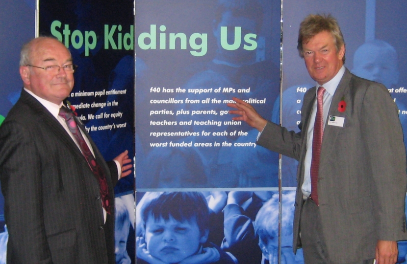 Cnty Cllr Ivan Ould with David Tredinnick campaigning for fair funding.