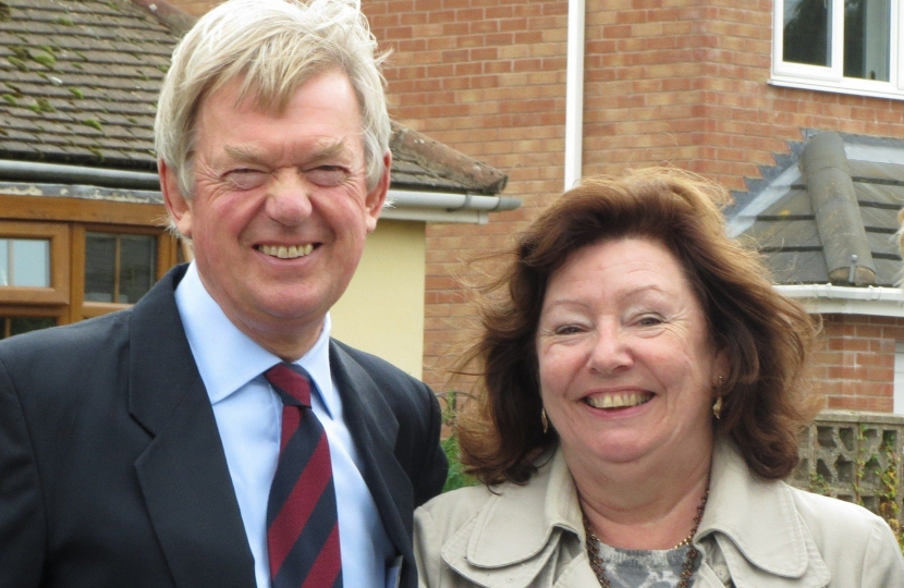 David Tredinnick MP and Jan Kirby Campaigning to save the school site.